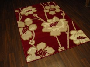 Modern Approx 6x4ft 115x165cm Woven Backed  Rugs Sale Top Quality Red/Beiges